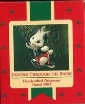 1987 - New in Box - Hallmark Christmas Keepsake Ornament - Jogging Through Snow - $5.93