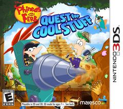 Phineas and Ferb: Quest for Cool Stuff (Nintendo 3DS, 2013) Video Game - $16.98