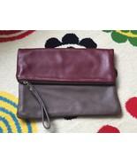 Alberta di Canio Leather Fold Over Clutch - $25.00