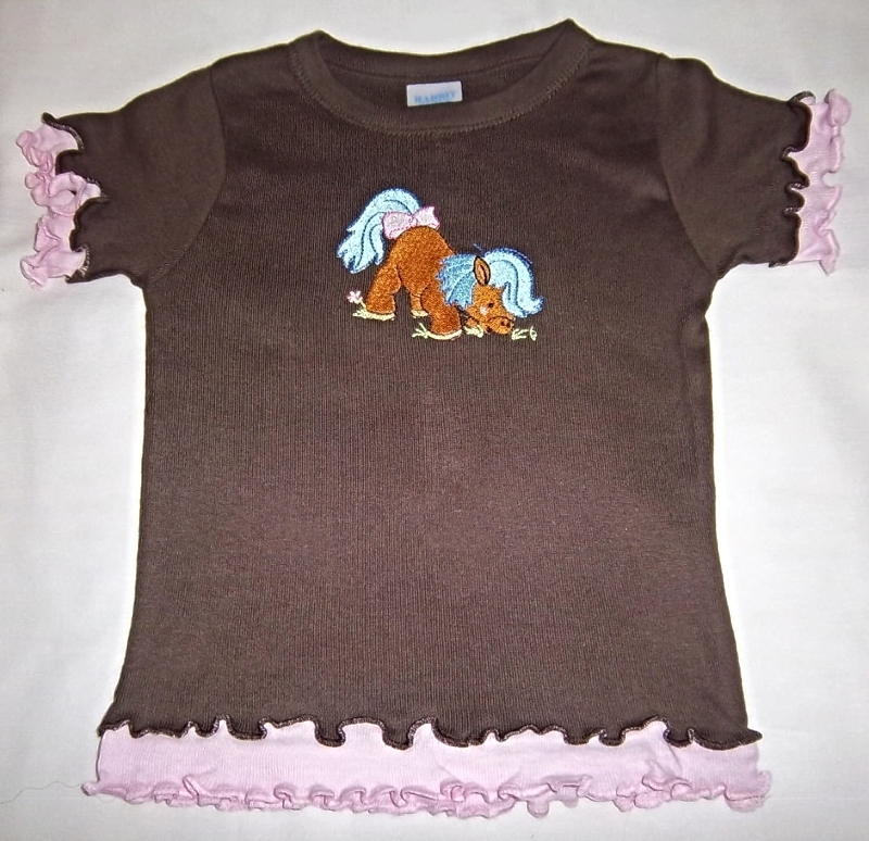 Toddler Girls Casual Western Embroidered Pony Shirt & Jeans Size 2T