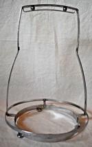 Mid-Century Metal Bowl Plate Holder Textured 10 5/8 in. tall Retro Vtg - $13.85