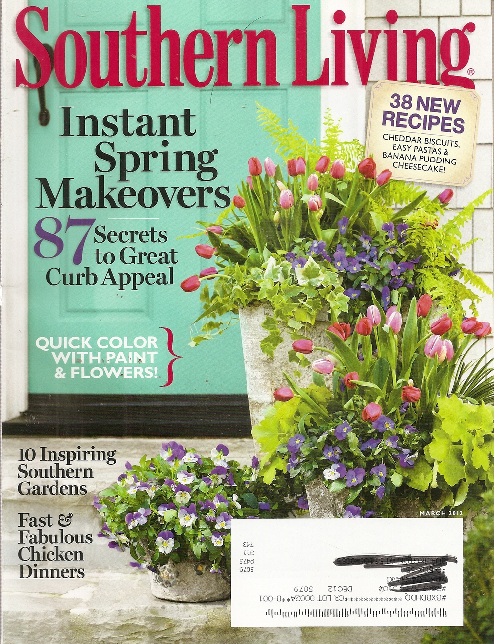 Primary image for SOUTHERN LIVING MARCH 2013
