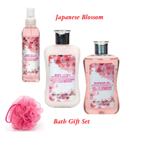 Japanese Blossom 4 Piece Gift Set  ~Body Lotion / Body Spay / Shower Gel~ - $14.80