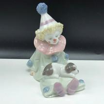 LLADRO CLOWN FIGURINE NAO 5277 spain porcelain Pierrot puppy dog sculptu... - $123.75