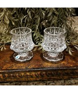 New Pair of PARTYLITE Lead Crystal Cottage Light Votive Candle Holder Germany   - $39.95