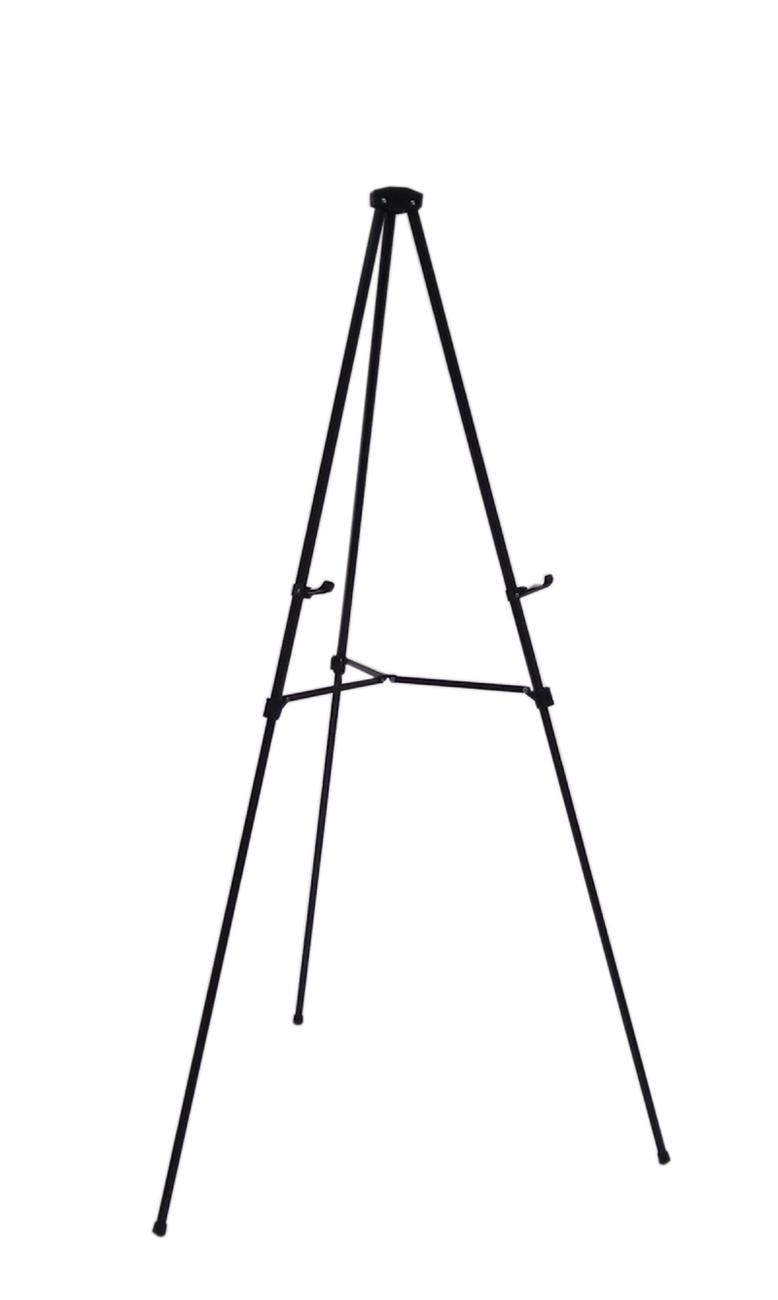 lightweight aluminum telescoping display easel  black