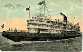Great Lakes Steamer Christopher Columbus Vintage Post Card - $6.00