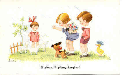 Primary image for ll pleut il pleut bergere  artist Jim Palt Post Card