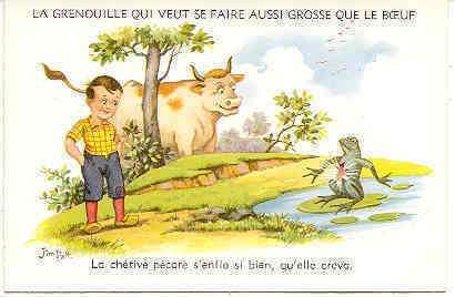 Primary image for Le Frog and The Bull artist Jim Palt Post Card