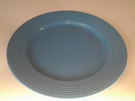 """K.I.C. Brushes Earthenware  (1) plate 10 7/8"""" Diameter 3G6W16  Sky Blue, VG - $6.99"""