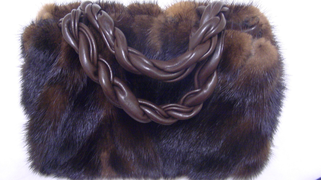 196be7c64e25 Paola Del Lungo Brown Mink Fur Purse and 50 similar items