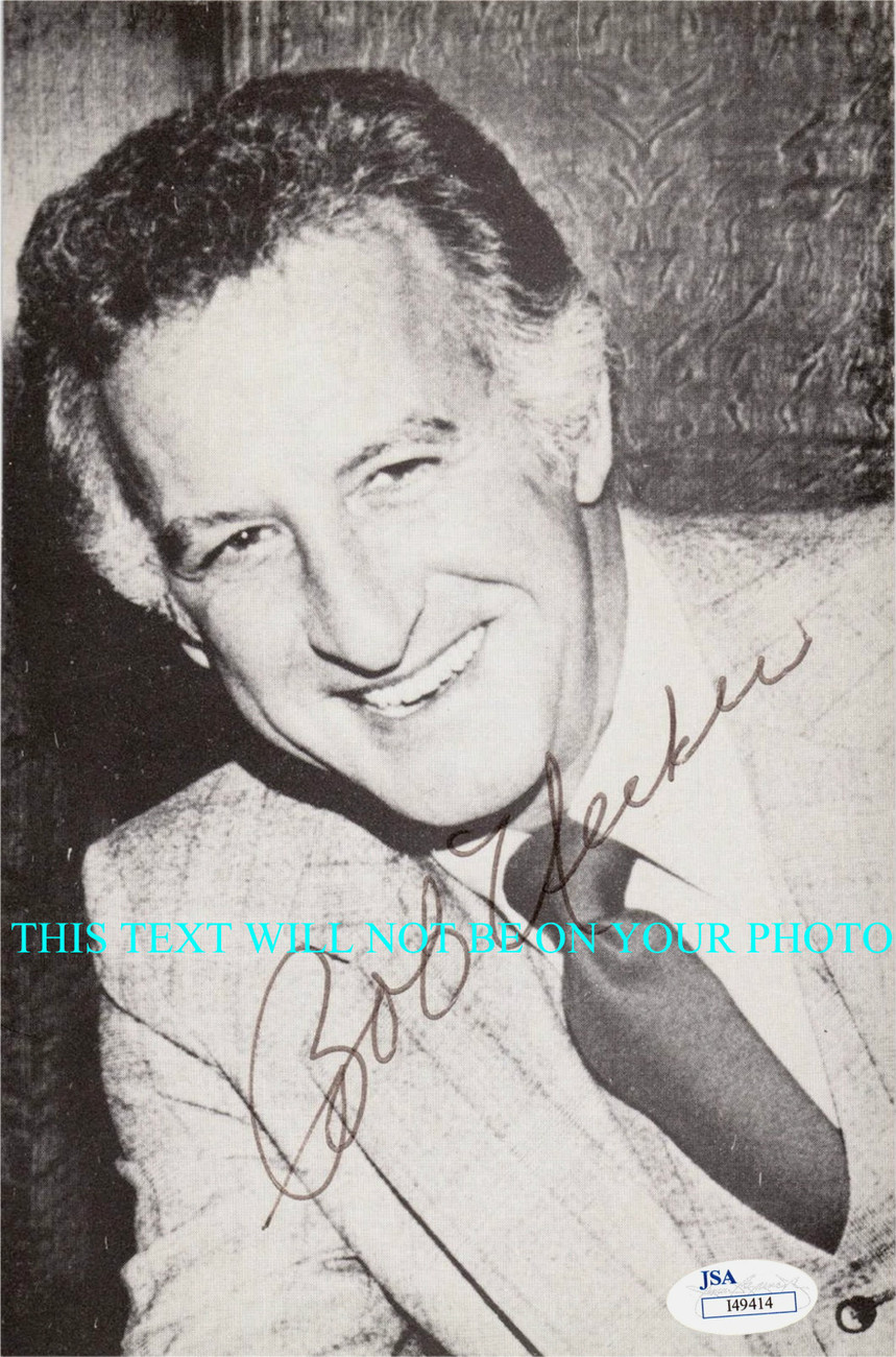 Primary image for BOB UECKER AUTOGRAPHED 6x9 RP AUTO PHOTO BASEBALL MR BELVEDERE