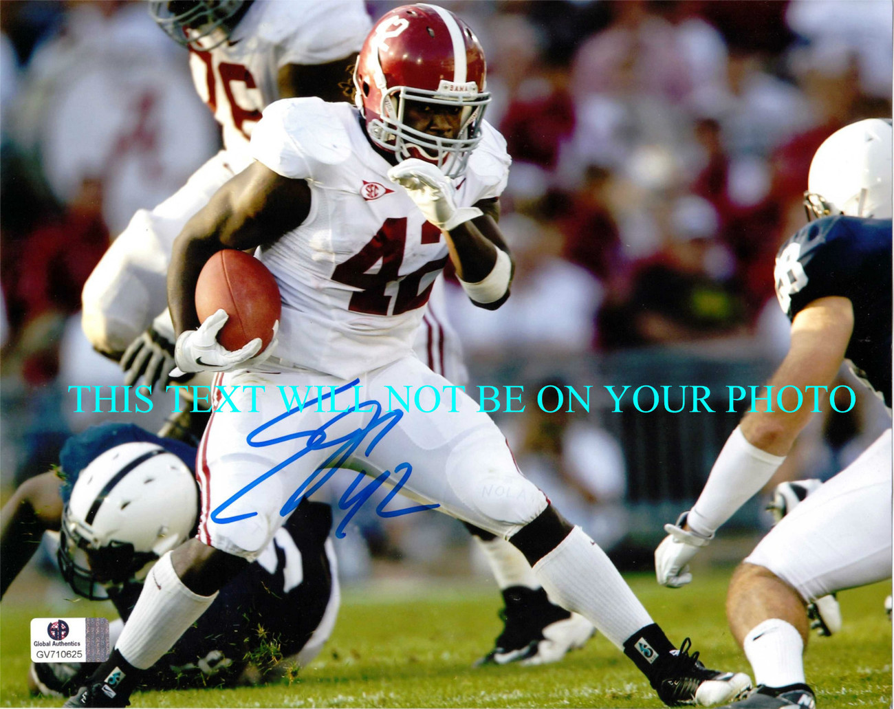 Primary image for EDDIE LACY AUTOGRAPHED 8x10 RP AUTO PHOTO ALABAMA CRIMSON