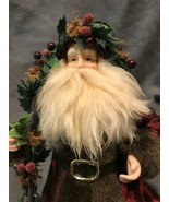 NWT Seasons of Cannon Falls Santa Figurine Ornament Tree Topper Saint Ni... - $33.25