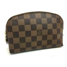 AUTHENTIC LOUIS VUITTON Damier Pochette Cosmetics Pouch Ebene N47516 - $350.00