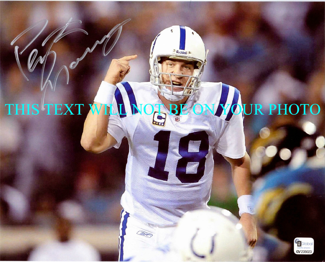 Primary image for PEYTON MANNING SIGND AUTO 8x10 RP PHOTO INDIANAPOLIS COLTS INCREDIBLE QB