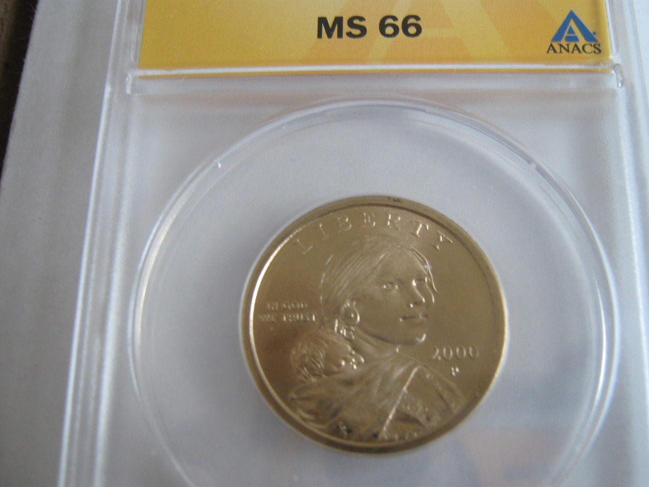 Primary image for 2000-P , Sacagawea Dollar , ANACS , MS 65
