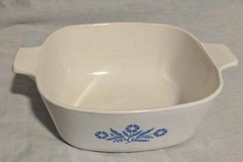 Vintage Corningware Blue Cornflower Retired 1.5 Quart Square Casserole NO # - $15.79