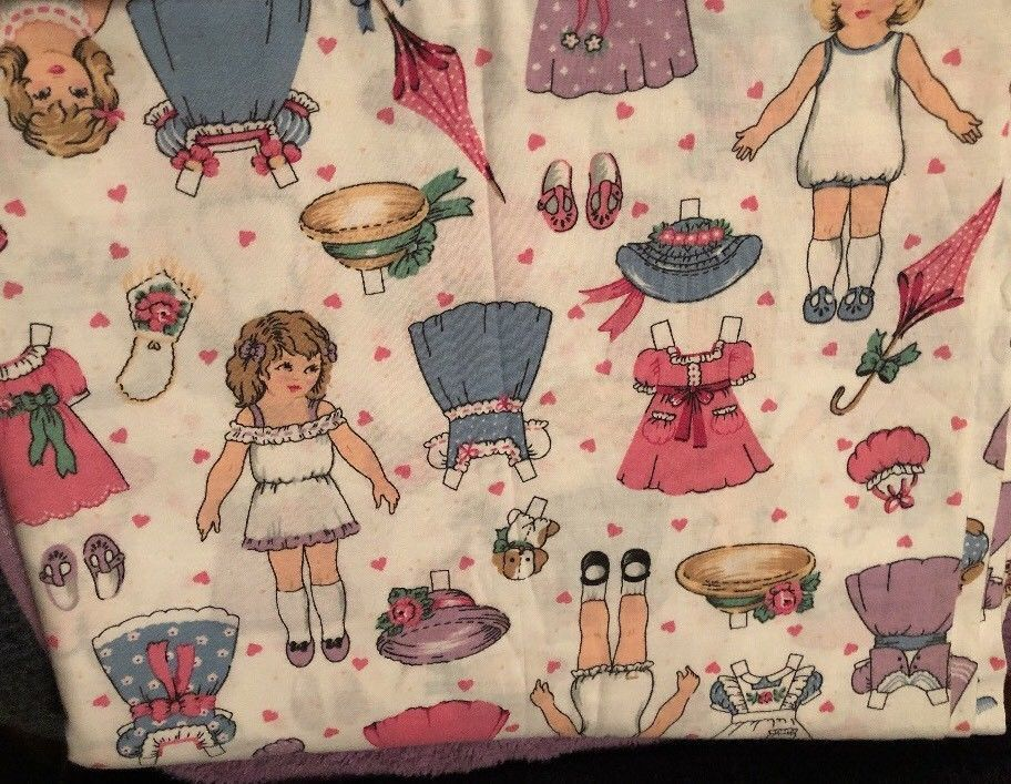 Paperdolls & Clothes on White ~ 1994 Fabric Traditions Cotton Fabric ~