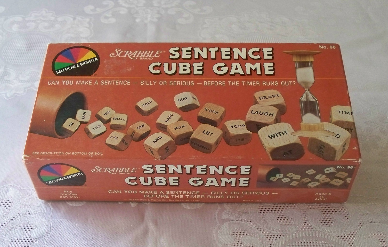 Primary image for Scrabble Sentence Cube Game Selchow & Righter 1983 Complete VGC