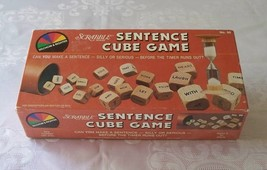 Scrabble Sentence Cube Game Selchow & Righter 1983 Complete VGC - $9.50