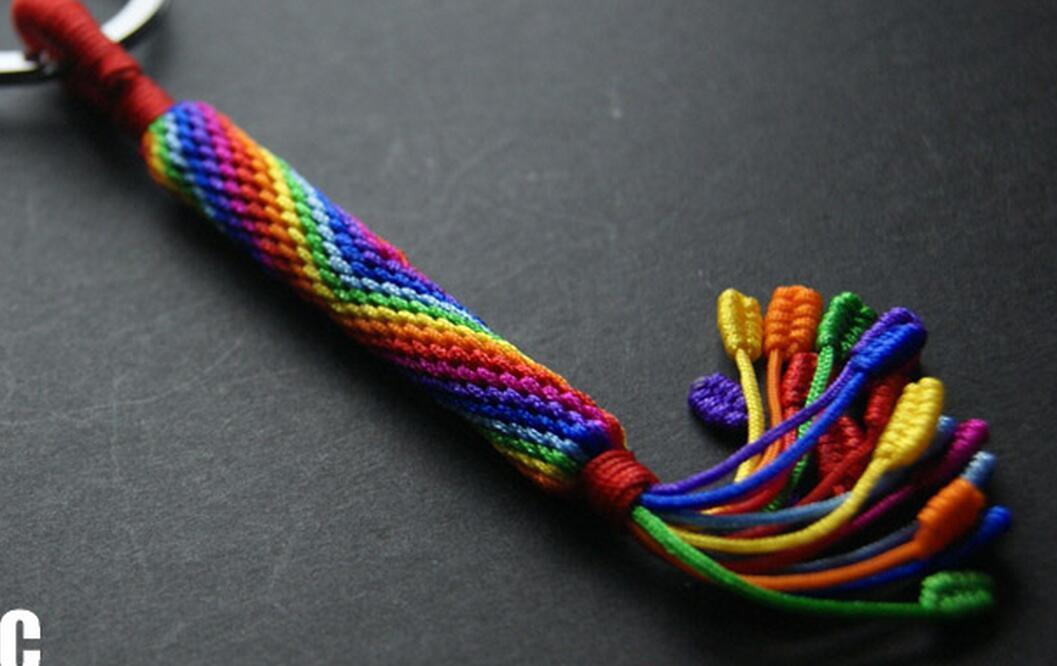 Handmade dynamic rope parachute cord knife pendant lanyard for Knife lanyard ideas