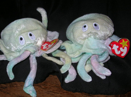 PAIR BEST OFFER TY BEANIE BABY 1998 GOOCHY JELLY FISH - $49.99
