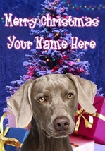 Weimaraner Dog Merry Christmas Personalised Greeting Card Xmas codeXM231 - $3.93