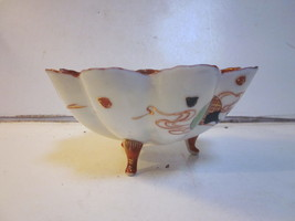 VINTAGE JAPANESE PORCELAIN SCALLOP EDGE FOOTED ... - $12.86