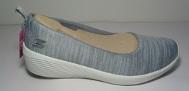Skechers Size 10 M ARYA Grey Wedge Loafers Sneakers New Womens Shoes - $88.11