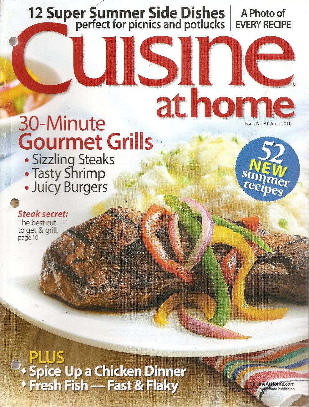Primary image for CUISINE AT HOME  JUNE 2010