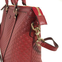 NEW GUCCI Microguccissima Leather Zip Top Crossbody Handbag image 7
