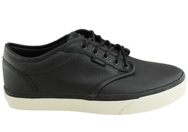 VANS Atwood (Perf) Black/Antique Leather Skate Shoes Men's 6.5 Women's 8 - $44.95