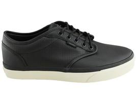 VANS Atwood (Perf) Black/Antique Leather Skate Shoes Men's 6.5 Women's 8 - $44.95