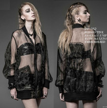 New PUNK RAVE Gothic Transparent Black Top PY-052 Skull FAST POSTAGE - $45.18