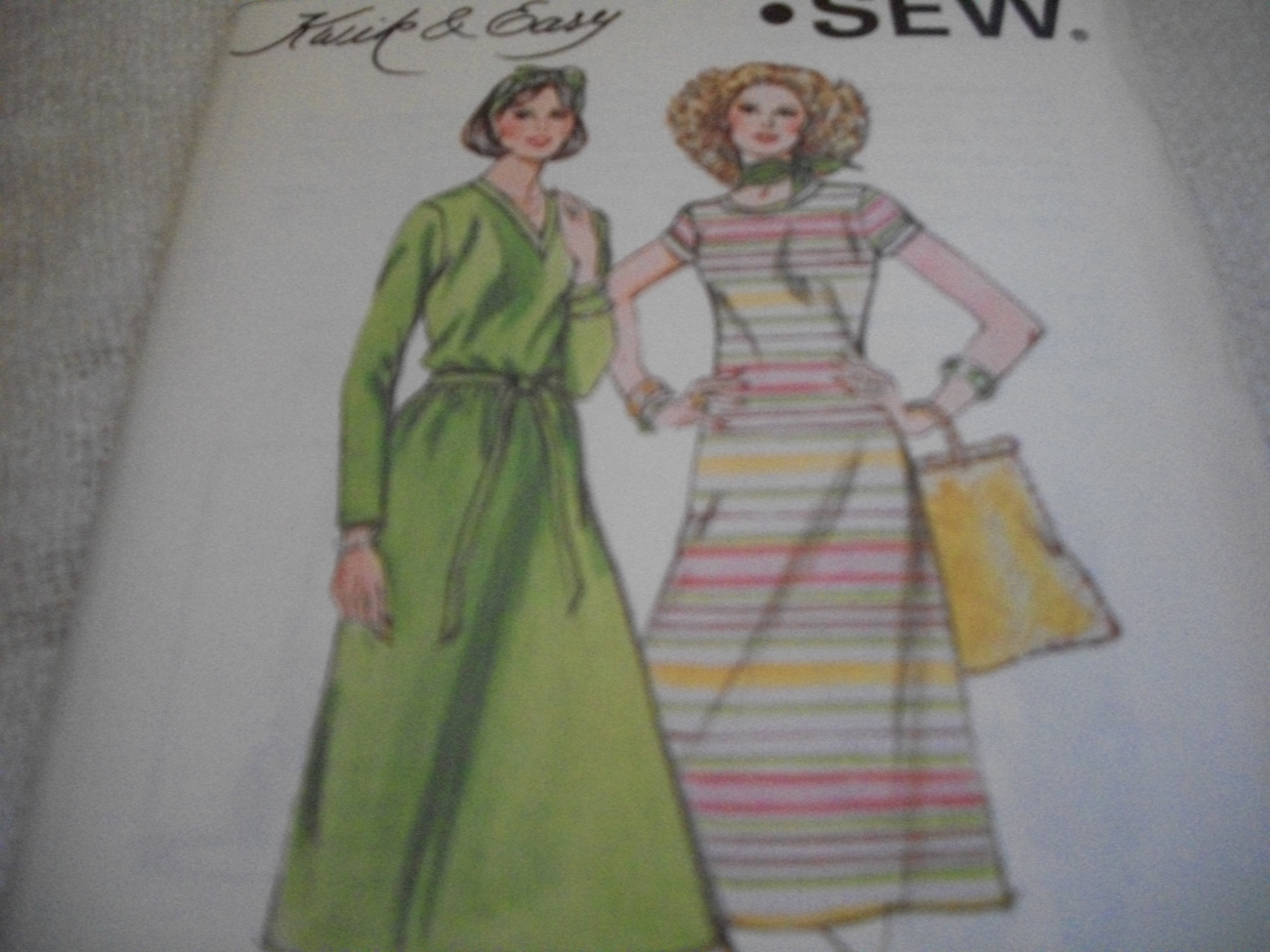 Primary image for Woman's Stretch Knit Dress Pattern Kwik Sew 905 Short or Long Sleeve Dress