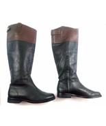Ralph Lauren Womens Boots Janessa Black/Brown Knee High Riding Leather 2... - $69.12