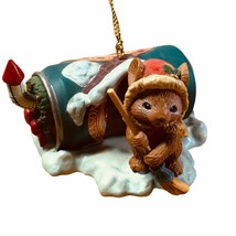 Vintage Mistletoe Magic Collectible Ornament 1990 Christmas Mouse in Sod... - $10.88