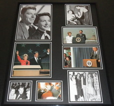 Ronald Reagan & Nancy Reagan Framed 16x20 Photo Collage C - $79.19