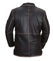 Jensen Ackles Supernatural Dean Winchester Distressed Brown Leather Jacket Coat image 3