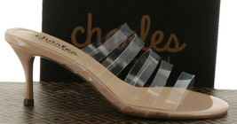 Charles David Benny Strappy Slip-On Sandal CLEAR 6 NEW 599-142 - $76.21
