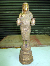 SO Big RARE! Ancient Gold Pra Sangkajai Top Powerful Statue Thai Buddha ... - $99.99