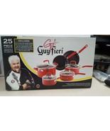 Guy Fieri 25 Piece Cooking Set, Nonstick Aluminum, Red, 5186818 - $113.95
