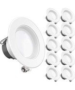 Sunco Lighting 10 Pack 4 Inch LED Recessed Downlight, Baffle Trim, Dimma... - $51.55