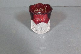 1905 Toothpick Holder Ruby Flash & Pressed, EDITH, Free Shipping - $15.88