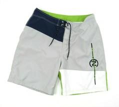 NAUTICA NS-83 Swim Trunks Shorts Gray Blue White Logo Sz 36 Competition ... - $16.78