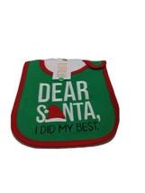 Carters Just One You Dear Santa I did my best Christmas Bib Baby green r... - $3.95