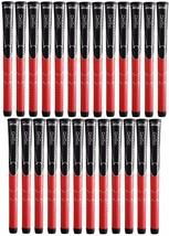 25 x Winn Dri-Tac AVS Soft Black Red Standard Size Golf Grip 5DT-BRD NEW! - $169.95