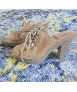 MK Michael Kors Shoes - Suede Mules Rubber Platform Sole Heels sz 9  - $45.94