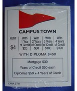Cyclone-Opoly Iowa State Monopoly Deeds Property Cards Replacement Game ... - $9.89